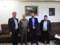 بمناسبت ولادت حضرت ابوالفضل عباس (ع) و روز جانباز دیدار شهردار مبارکه با جانباز ۷۰ درصد دفاع مقدس