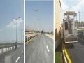 گزارش تصویری؛ خط کشی ترافیکی و رنگ آمیزی جداول در شهر مبارکه