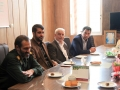 دیدار شهردار، رئیس و اعضای شورای اسلامی شهر مبارکه با فرماندهی ناحیه مقاومت بسیج شهرستان به مناسبت روز پاسدار