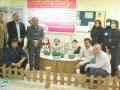 نصب المان سفره هفتسین در بیمارستان محمد رسول الله (ص)شهرستان در راستای تقدیر از کادر درمانی
