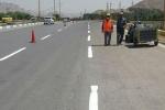 گزارش خبری/ خط کشی ترافیکی بلوار شهید نیکبخت شهر مبارکه
