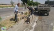 گزارش تصویری/روایت تلاش در حوزه خدمات شهری/تعمیرات و اصلاح جداول و پل های آبرو سطح شهر