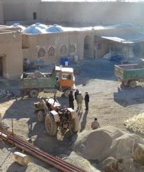 روایت تلاش / مبارکه در مسیر توسعه / ادامه عملیات بازسازی ارگ تاریخی نهچیر