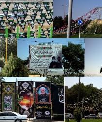 فضاسازی سطح شهر همزمان با ماه محرم و ایام سوگواری حسینی