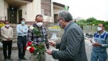 تقدیر از کارگران شهرداری مبارکه به مناسبت گرامیداشت روز جهانی کار و کارگر