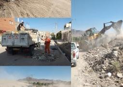 روایت تلاش/ جمع آوری نخاله های ساختمانی و پاکسازی زمین ها- محله 2 صفائیه
