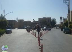 ساماندهی ترافیکی چهار راه گلستان شهدای قهنویه