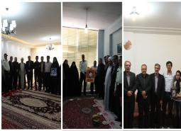 دیدار با خانواده معظم شهدای کرمی، عبدیان و اکبری با حضور مسئولین شهرستان