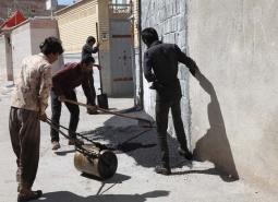 لکه گیری آسفالت در محلات نصیر آباد، قلعه، محمدیه و خیابان شهید مصطفی خمینی