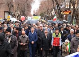 حضور پرشور مردم شریف و شهید پرور شهر مبارکه در راهپیمایی یوم الله 22…