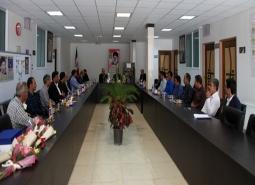 گزارش تصویری/دیدار شهردار ،رئیس و اعضای شورای اسلامی شهر مبارکه با هیئت رئیسه…