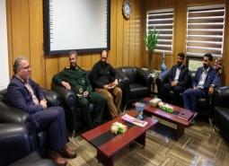 گزارش تصویری/ دیدار فرمانده سپاه شهرستان با شهردار مبارکه