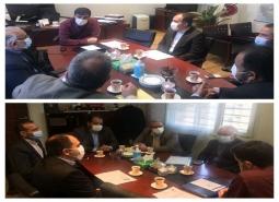 جلسه مشترک مدیران شهرستان با معاون راهداری سازمان حمل ونقل جاده ای کشور