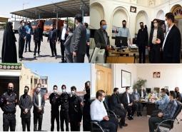 بازدید رئیس، اعضای شورای اسلامی شهر و سرپرست شهرداری مبارکه از معاونت ها و…