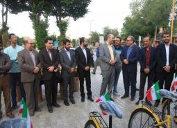 نخستین ایستگاه های دوچرخه شهری شهرستان درشهر مبارکه راه اندازی شد