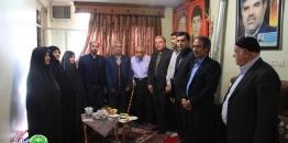 دیدار شهردار و اعضای شورای اسلامی شهر مبارکه  با خانواده شهدای مختاری