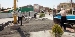 گزارش تصویری/ روایت خدمت و تلاش در حوزه معاونت عمران شهرداری مبارکه / زیباسازی میدان شهید بهشتی