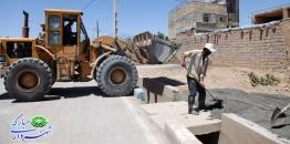 گزارش تصویری/ ادامه عملیات عمرانی پیاده رو سازی در خیابان شهید مداحی دهنو