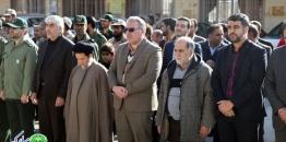 گزارش تصویری/ غبارروبی گلستان شهدا مبارکه به مناسبت  هفته بسیج