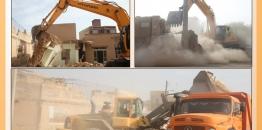 گزارش تصویری/ در راستای اجرای بند14 ماده55 قانون شهرداریها تخریب ساختمان خطر ساز در خیابان 22بهمن مبارکه