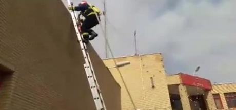 تمرینات آمادگی پرسنل سازمان آتش نشانی مبارکه