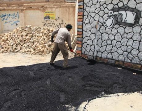 گزارش تصویری / لکه گیری آسفالت در بلوار شهدای یزدان