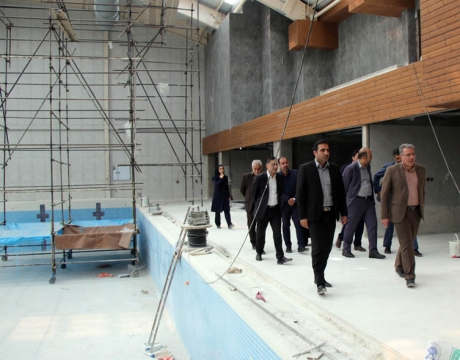 گزارش تصویری / بازدید شهردار و اعضای شورای اسلامی شهر مبارکه از پروژه مشارکتی استخر فتح المبین