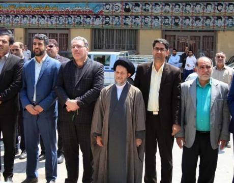 گزارش تصویری/برگزاری مراسم گرامیداشت حماسه سوم خرداد و  غبار روبی گلستان شهدای مبارکه به همین مناسبت