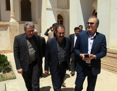 بازدید مدیرکل میراث فرهنگی و گردشگری استان از ارگ تاریخی نهچیر مبارکه