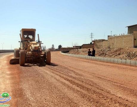 گزارش تصویری /شروع عملیات اجرایی احداث جاده گلستان شهدا محله قهنویه به سمت زیرگذر فولاد (خاکریزی،زیرسازی،جدول گذاری و ... )