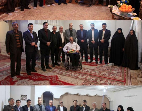 گزارش تصویری / دیدار شهردار ،رئیس و اعضای شورای اسلامی شهر مبارکه با جانبازان دفاع مقدس به مناسبت روز جانباز