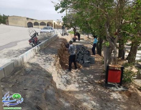 روایت تلاش در حوزه خدمات شهری /ساماندهی آرمستان محله دهنو