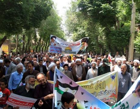 گزارش تصویری / راهپیمایی روز قدس در شهر مبارکه