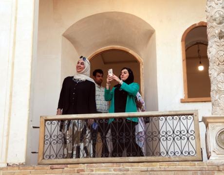 گزارش تصویری /بازدید رئیس سازمان میراث فرهنگی کشور عمان وهیئت همراه از ارگ تاریخی نهچیر