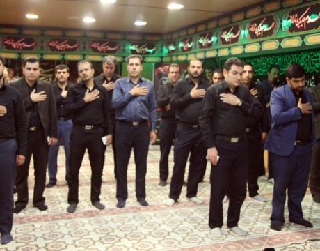 برگزاری مراسم پرفیض زيارت عاشورا و عزاداري دهه اول محرم در شهرداري مباركه