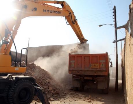 گزارش تصویری / تملک و آزادسازی 5 باب تجاری در طرح تعریض خیابان شهید محمد صادقی محله دهنو