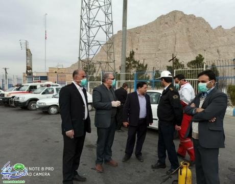 گزارش تصویری /استقرار اکیپ های بهداشتی و انتظامی در مبادی ورودی شهرستان مبارکه /پلیس راه اصفهان -شیراز