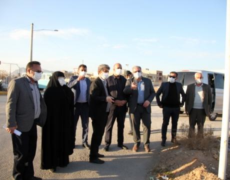 بازدید میدانی شهردار ،رئیس و اعضای شورای اسلامی شهر مبارکه از نقاط مختلف شهر و محلات پیرامون بررسی مشکلات و درخواست های شهروندان