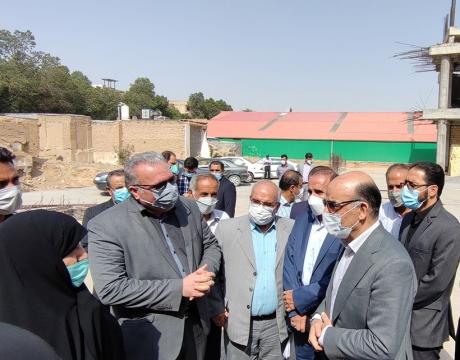 گزارش تصویری / بازدید مسئولان شهرستان از روند فعالیتهای عمرانی حسینیه مرکزی مبارکه