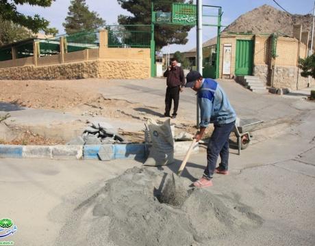 گزارش تصویری/ روایت خدمت و تلاش در حوزه خدمات شهری/ مرمت و بازسازی سنگ فرش پیاده روها