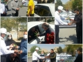 گزارش تصویری /اهدای گل به رانندگان قانونمند در مبارکه