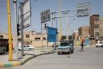 نصب سازههای موقت تبلیغاتی در نقاط مختلف شهر مبارکه