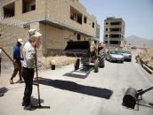 آسفالت و بهسازی معابر در شهر مبارکه / لکه گیری آسفالت و ترمیم ترانشه - محله 2 صفائیه