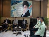 دیدار مدیریت شهری مبارکه با فرماندهی نیروی انتظامی شهرستان