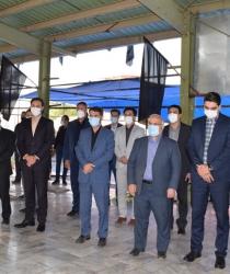 مراسم غبار روبی و عطر افشانی گلزار شهدای مبارکه به مناسبت هفته دولت برگزار شد