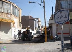 تعریض پیاده راه خیابان شهدای جعفرزاده در دستورکار شهرداری مبارکه