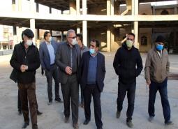 بازدیدشهردار، رئیس و اعضای شورای اسلامی شهر مبارکه از پروژه حسینیه مرکزی مبارکه