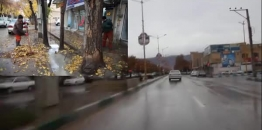 ببینید/گوشه ای از تلاش خستگی ناپذیر پرسنل خدوم خدمات شهری شهرداری مبارکه در بارندگی های اخیر
