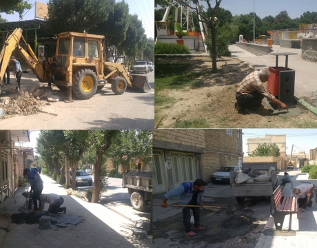گزارش تصویری/ روایت تلاش در حوزه خدمات شهری شهرداری مبارکه