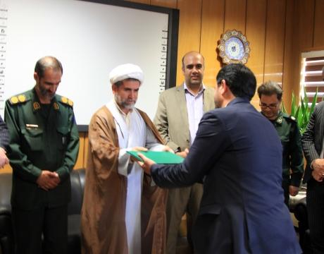 گزارش تصویری/فرمانده جدید پایگاه مقاومت بسیج امام حسین (ع)شهرداری مبارکه معرفی شد